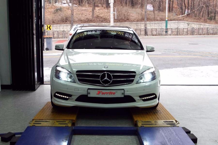 벤츠 C220 전조등 HID 6000K, 미등 수입차 전용 LED 시공