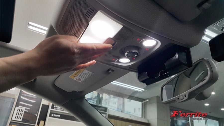 아우디 A5 실내등 및 트렁크등 LED전구 교체 시공